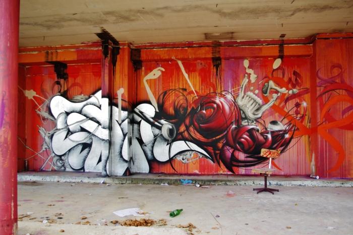 graffitis/Tour Paris 13 / 2013