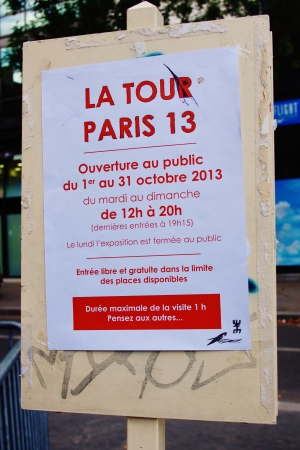 Tour Paris 13 / 2013