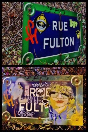 Panneaux rue Fulton