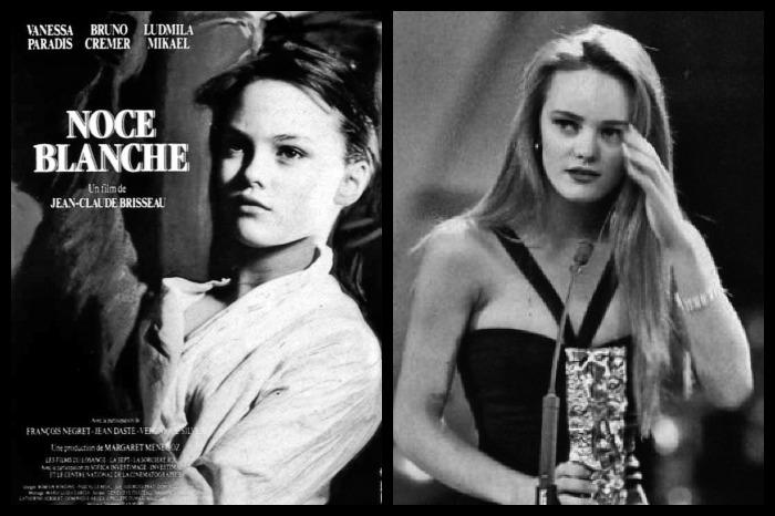 """Vanessa Paradis/ césar pour """"Noce blanche"""""""