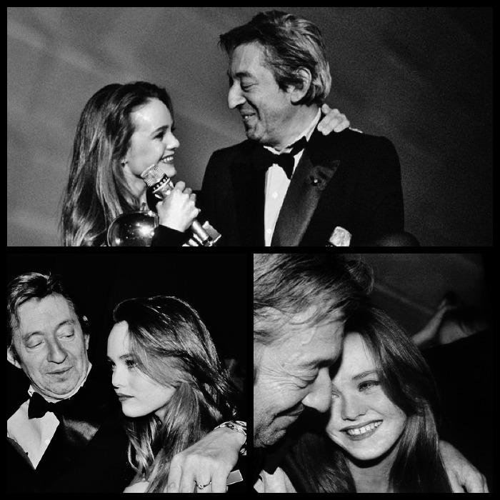 vanessa Paradis et Serge Gainsbourg