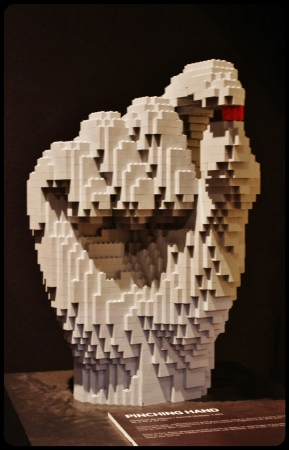 "Pinching hand /Expo ""Art of the brick"". Bruxelles 2014"