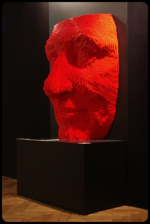 "RED FACE/Expo ""Art of the brick"". Bruxelles 2014"