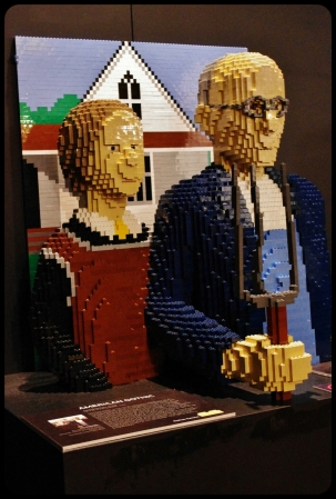 "American Gothic/Expo ""Art of the brick"". Bruxelles 2014"