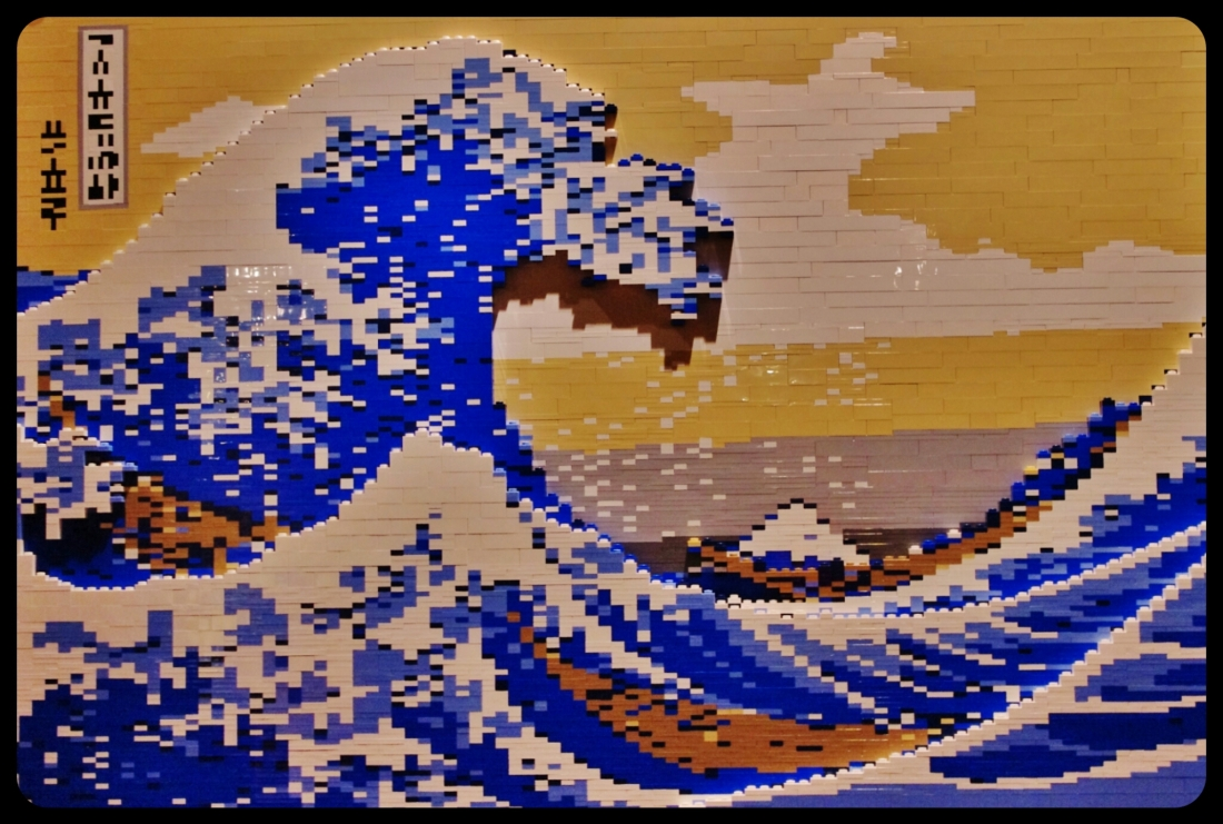 "La grande vague de kanagawa-hokusai/Expo ""Art of the brick"". Bruxelles 2014"