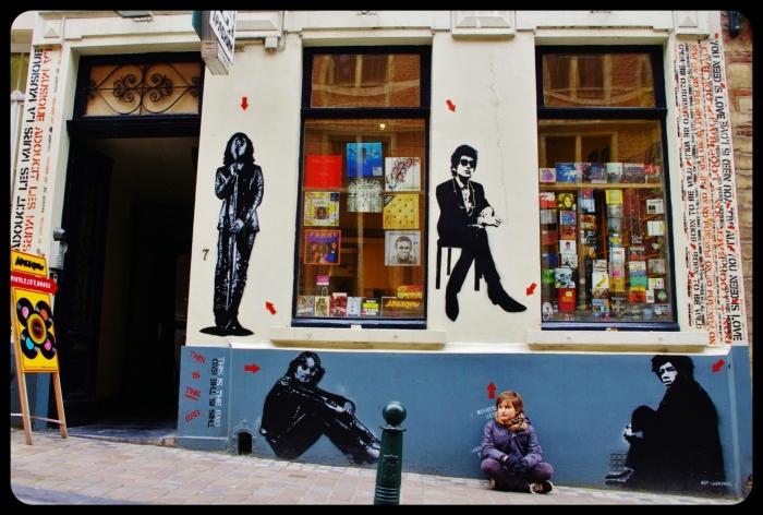 Magasin de disque à Bruxelles