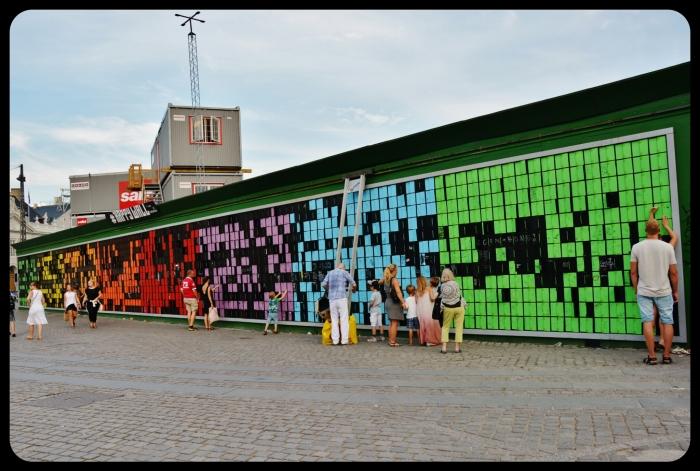 happy wall in Danemark