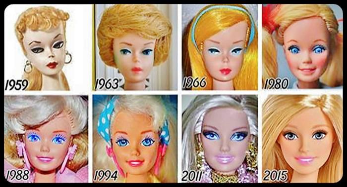 Barbie évolution