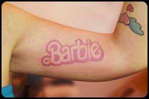 Tatouage Barbie