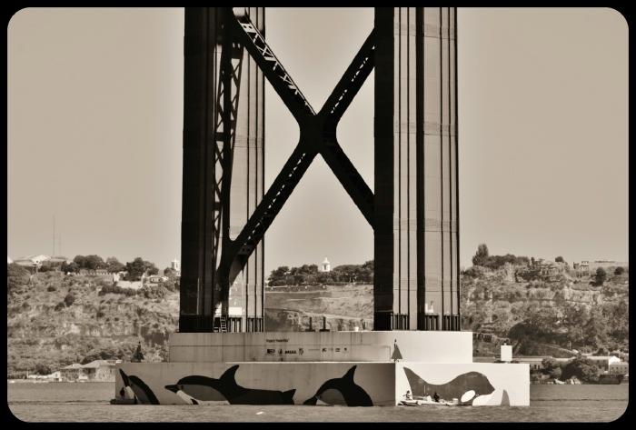 le pont du 25 avril / Lisbonne/Portugal 2016