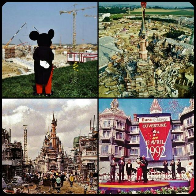 Construction du parc Euro Disney