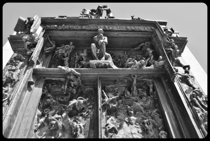 La porte de l'enfer. Rodin