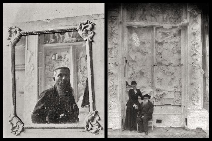 Rodin devant la porte de l'enfer