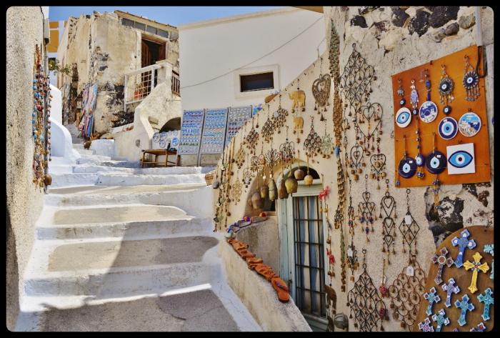 Pyrgos . Grèce /Santorin 08.2017