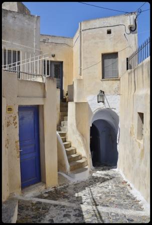 Pyrgos. Grèce /Santorin 08.2017
