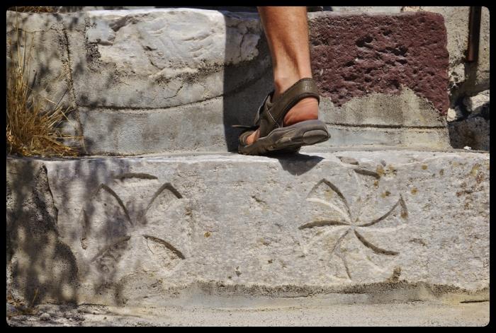 Pyrgos. Grèce / Santorin 08.2017
