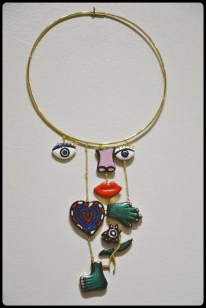 Expo Médusa Paris 11.2017/ assemblage Necklace de Niki de St Phalle