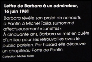 Expo Barbara à la Philharmonie de Paris / 12.2017